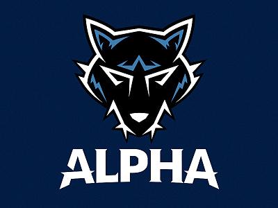 Alpha Hockey Team Logo sport sports wolf jersey logo hockey team alpha