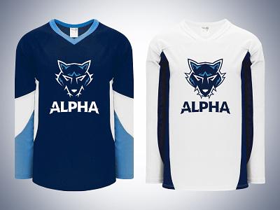 Alpha Home and Away Jerseys jersey hockey alpha team