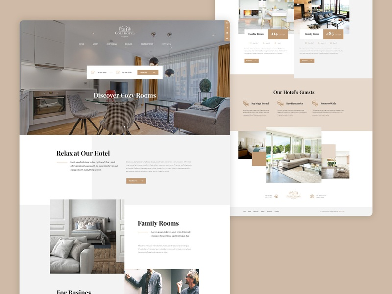 Gold Hotel Homepage