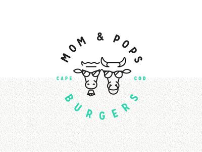Mom & Pops Burgers Logo