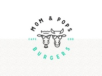 Mom & Pops Burgers Logo