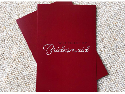 Bridesmaid stationary