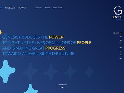 Genesis Website gradient animation full screen awwwards nominee genesis group power oil  gas energy africa responsive website