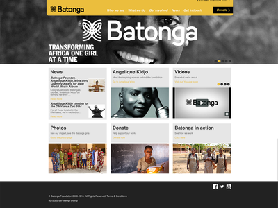 The Batonga Foundation Website feminism woman girl education benin health ngo charity website responsive africa