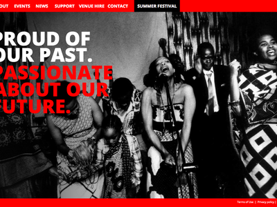 Africa Centre Website geometric pattern flat bold london event website responsive africa