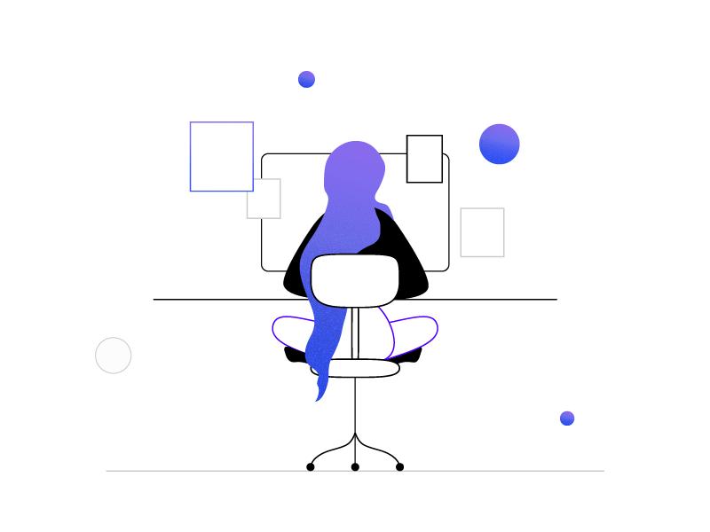 Violet Girl vector illustrator adobe illustration girl violet