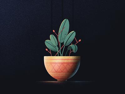 Botanical brush leaf pot plant botanical texture procreate art procreate illustration design