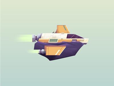 🚀 wing texture rocket meteor rock space ship spaceship illustration vector
