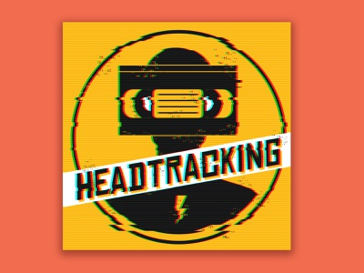 headtracking podcast dribbbleweeklywarmup brand design nostalgia films movies podcast vhs brand identity logo branding