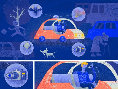 Senses of an autonomous vehicle safe traffic camera sensors lidar radar autonomous car machinelearning ai tooploox illustration