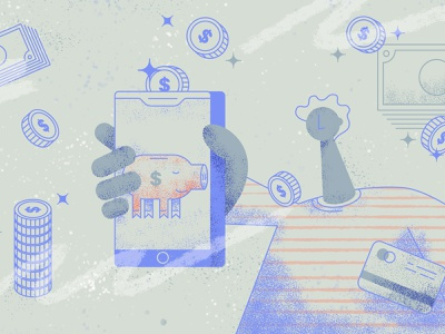 Personal Finance app money mobile trading app investment personal finance finance app illustrator cc tooploox vector illustration
