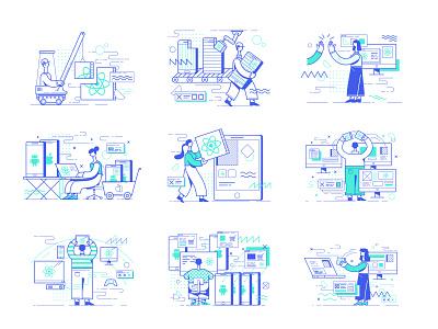 react native services devops developer it react native explainer tooploox vector illustration