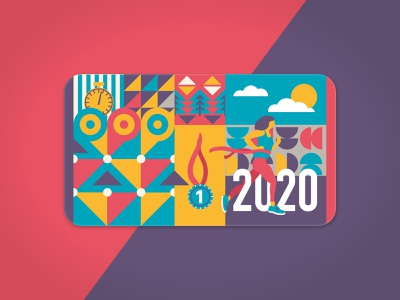 run card card newyearresolutions 2020 run running illustrator cc vector illustration