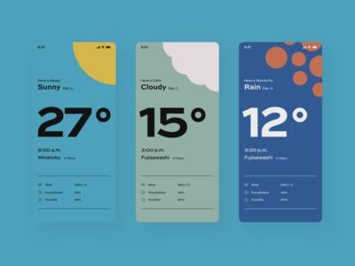 Daily UI 37 🌞 Weather dailyui 037 colordul weather app weather ui uidesign dailyui