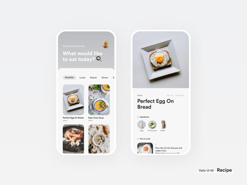 Daily UI 40 🍳 Recipe dailyui 040 daily ui challenge recipe photo figma daily ui design clean uidesign dailyui