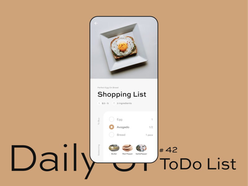Daily UI #042  − ToDo List todolist task todo ui figma daily ui design clean uidesign dailyui