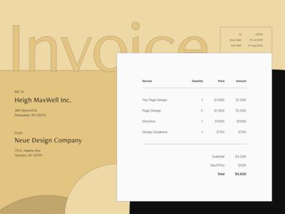 Daily UI 046 - Invoice 💛 retro dailyui 046 daily ui invoice ui figma design uidesign
