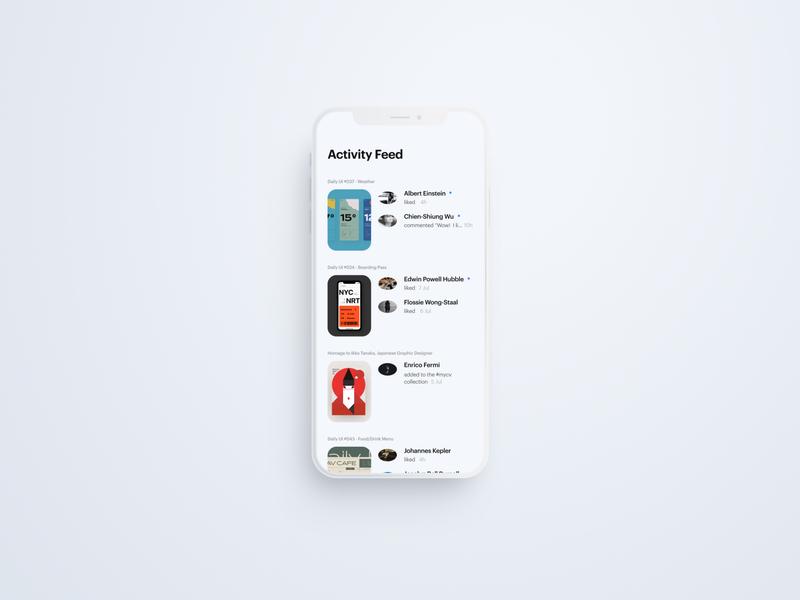 Daily UI 047 - Activity Feed ui figma design daily ui clean uidesign dailyui