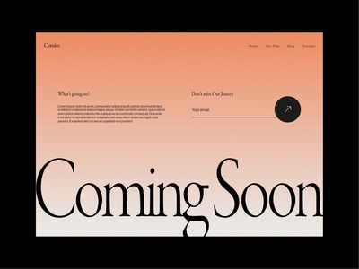 Daily UI 048 - Coming Soon 🧡 pc website webdesign dailyui 048 comingsoon design daily ui uidesign dailyui
