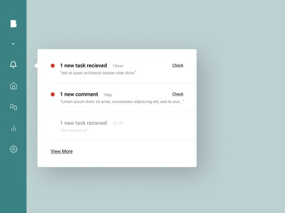 Daily UI 049 - Notification roboto web application notification ui figma design clean uidesign dailyui