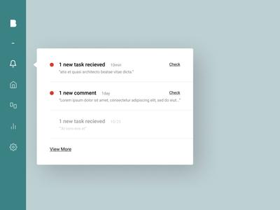 Daily UI 049 - Notification roboto web application notification ui figma design clean uidesign dailyui