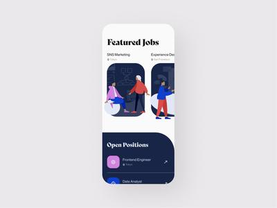 Daily UI 050 - Job Listing job listing job illustration daily ui challenge blue ui figma daily ui design clean uidesign dailyui