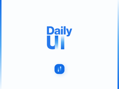 Daily UI 052 - Daily UI Logo typography daily ui challenge blue figma daily ui design clean uidesign dailyui