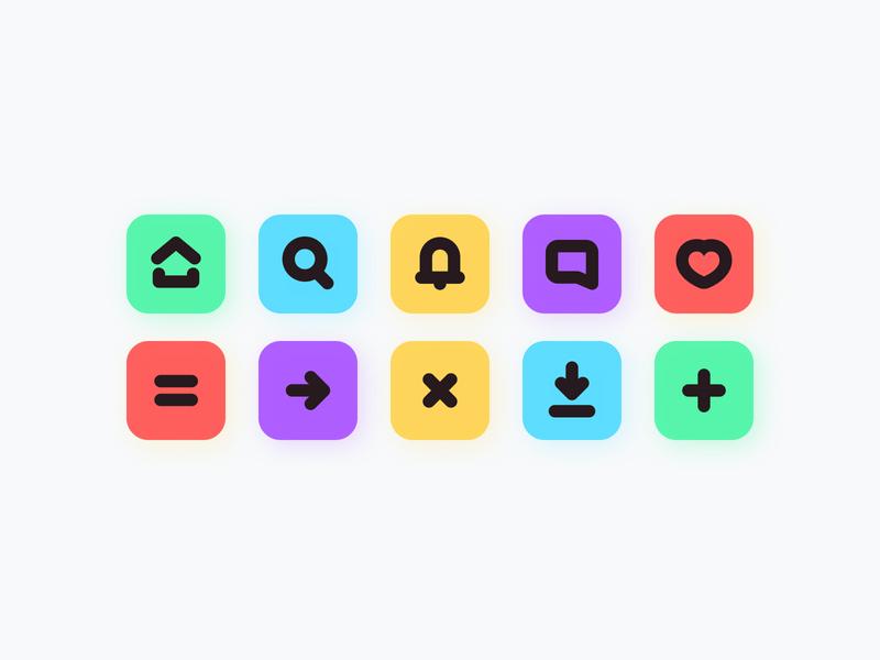 Daily UI 055 - Icon Set 🌟 icons icon set icon daily ui challenge ui figma design clean uidesign dailyui