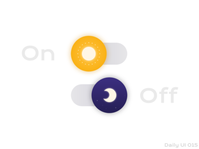 Daily UI #015 On/Off Switch 🌖