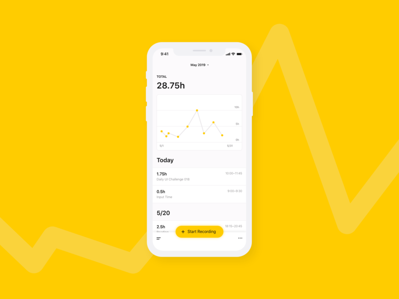 Daily UI #018 - Analytics Chart 🐥 dailui dailyui 018 daily ui graph analytic yellow clean adobe xd dailyui
