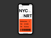 Daily UI #024 - Boarding Pass ✈️