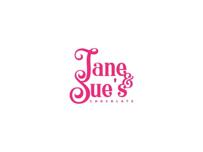 Jane&Sue's Chocolate logodesign branding logodesigner logotype illustration icon brandidentity design flat logo
