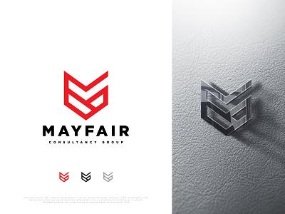 Mayfair Consultancy Group 3d vector minimal logodesign logo mfg lettermark letter logo idendity icon designer design creative concept corporate brand app abstract
