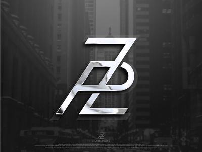 Z and P logo designer logo design chrome black and white dribbble best shot creativity creative logo monogram logo app branding logodesign illustration vector logodesigner brandidentity design flat logo icon