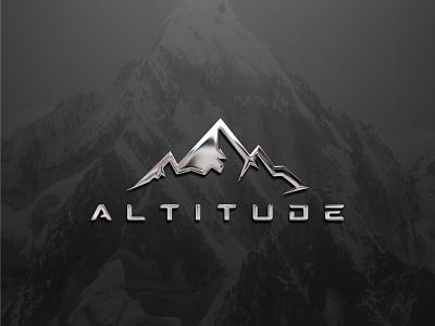 Altitude creative logo design chrome logo dribbble best shot black and white logodesign illustration branding brandidentity logodesigner vector design logo flat icon