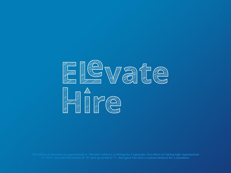 Elevate Hire flat vector art illustration logodesign logotype design brandidentity logodesigner logo