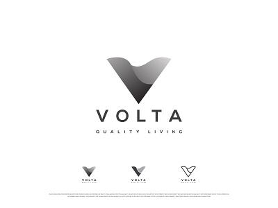 VOLTA vector illustration logotype icon logodesigner logo design flat brandidentity v logo v voltage