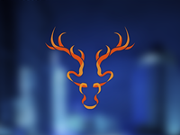Rejects and Derelicts - Ribbon Deer Head Logo Icon