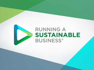 Running a Sustainable Business Logo