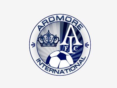 AIFC blue gray white soccer futbol logo