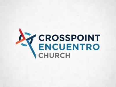 Crosspoint Encuentro Church Logo cross church logo