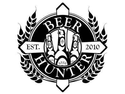 Beer Hunter One Color beer crest logo logo black one color