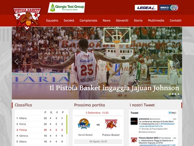 Pistoia Basket - Homepage basketball basket slide