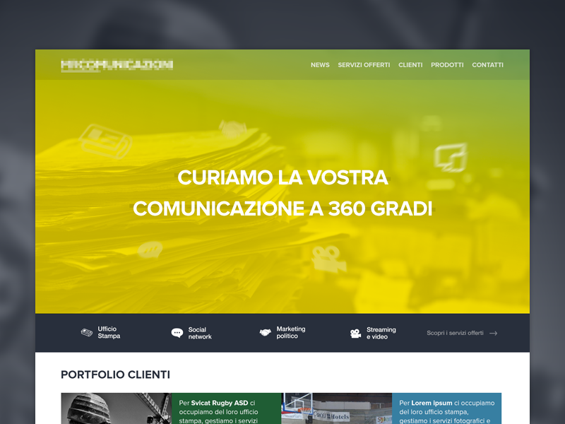 Communications agency - Homepage newspaper services megaslider