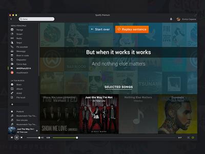 Talkify - MHD Paris 2014 spotify lyrics song hack day