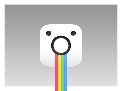 Rainbow Tongue logo snapchat