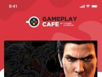 Gameplay cafe mockup