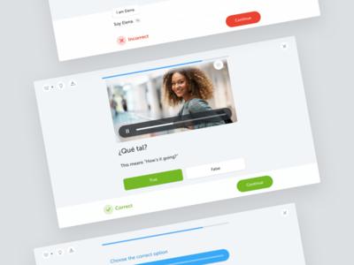 Exercise redesign – busuu learning language design ui bar translation error player