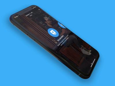 Exercise redesign – Mobile languages quiz app iphone ui
