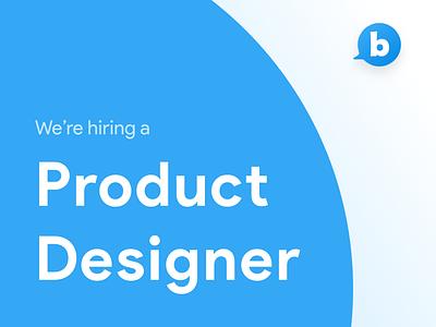 Hiring Product Designer 🖋️ hiring job ui ux design